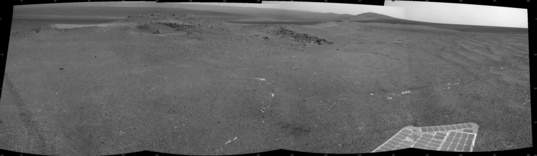 Location B: Navcam image from sol 3335