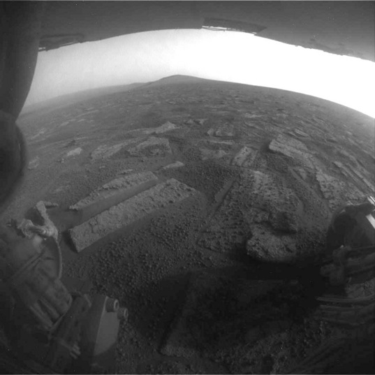 Location C: View tosol, a Hazcam from sol 3355