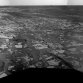 Opportunity's view on sol 1713, just before conjunction