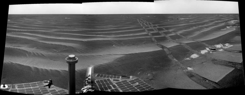 Opportunity Navcam panorama, sol 2,006