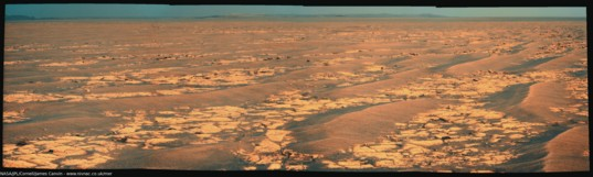 Opportunity's drive direction panorama, sol 2358 (September 11, 2010)
