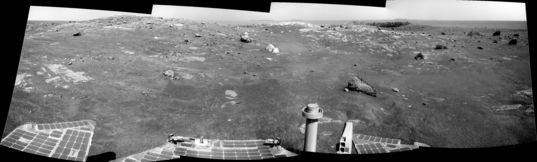 Opportunity panorama, sol 2450