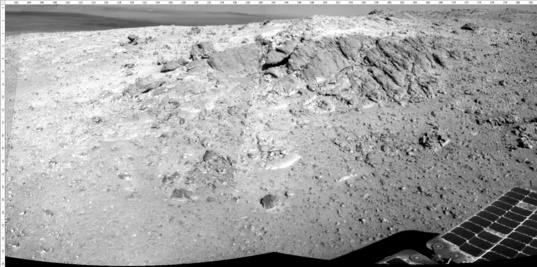 The outcrop in front of Opportunity as of sol 3623