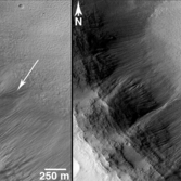 A new gully flow in Pursat Crater