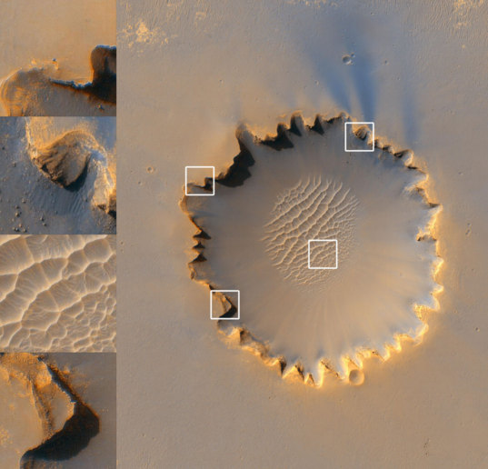 HiRISE Looks at Victoria Crater