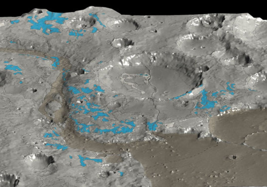 OMEGA discovers water-rich minerals in Marwth Vallis