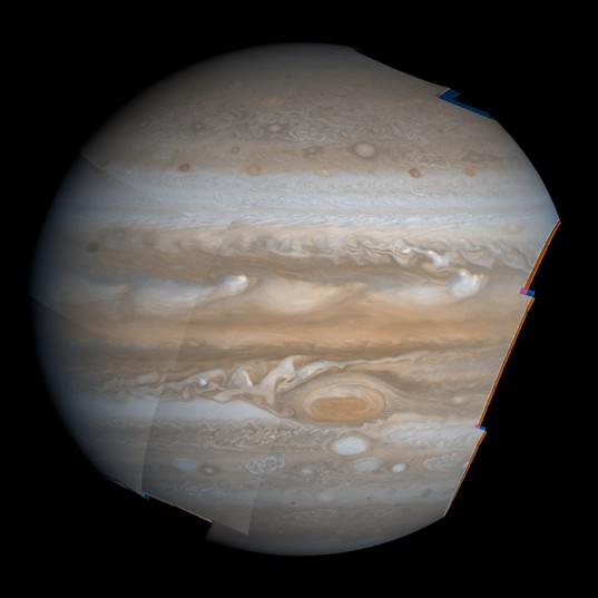 Interim version of high-resolution Jupiter mosaic