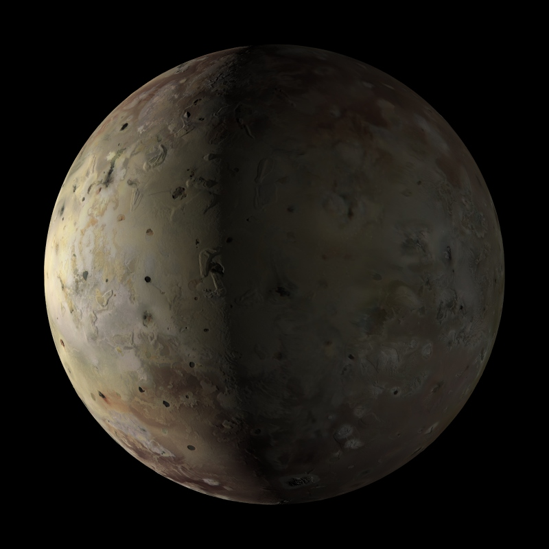 Simulated view of Io