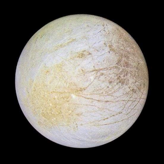 Europa in color: subjovian to leading hemisphere