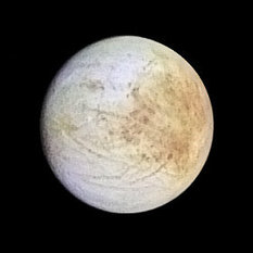 Europa in color: subjovian hemisphere
