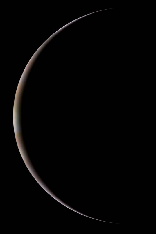 Extremely thin crescent Jupiter