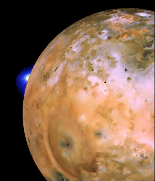 Loki erupts on Io's limb