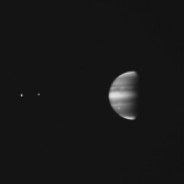 Jupiter & Moons Seen Through Methane Band Filter