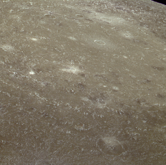 Oblique view of Valhalla impact basin, Callisto
