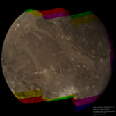 Near-global high-resolution color view of Ganymede from Voyager 2