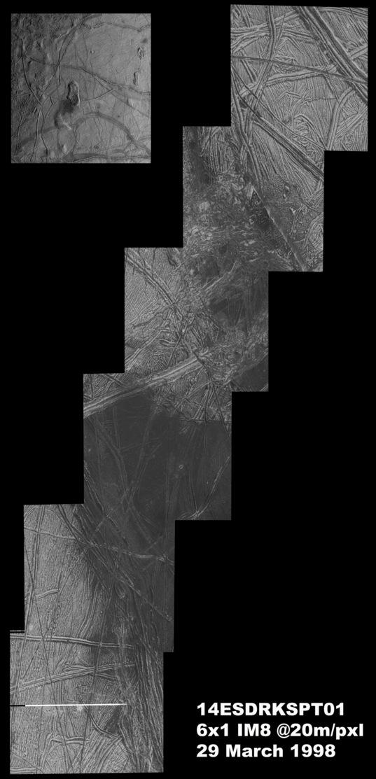 Europa's Castalia Macula from Galileo