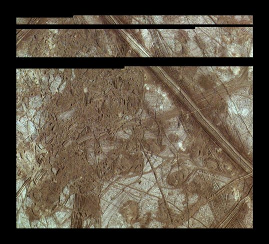 Color view of Europa's Conamara Chaos from Galileo