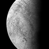 Monochrome Europa from Voyager 2