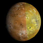 Color observation of Io's leading hemisphere