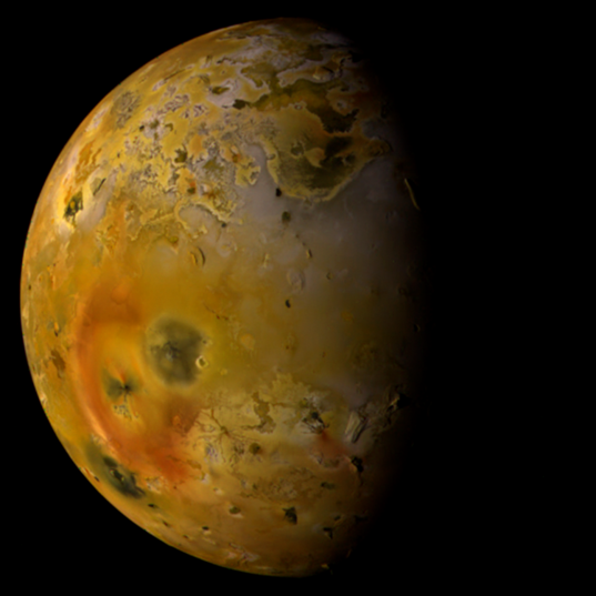Io, with Pillan eruption deposits
