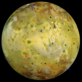 Io color mosaic from Galileo orbit C21
