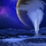 Artist's concept of a water vapor plume from Europa