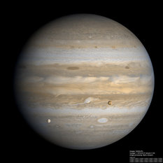 High-resolution Voyager 1 view of Jupiter with Io and Europa