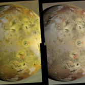 A reconstruction of Io's true color