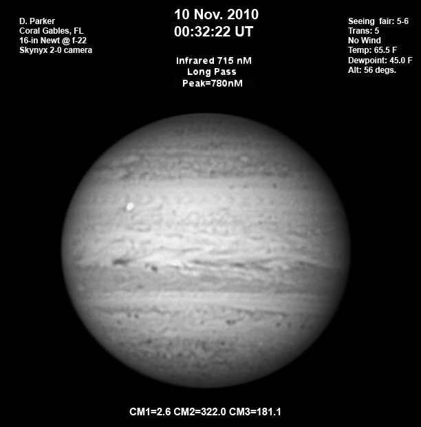 Jupiter on November 10, 2010: Outbreak?