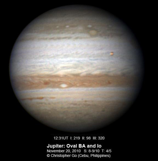 Jupiter on November 20, 2010: The other side