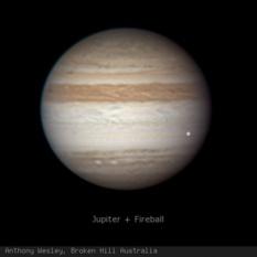 Jupiter on June 3, 2010: Impact flash!