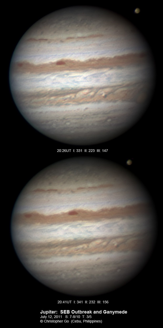 Jupiter on July 12, 2011 (with bonus Ganymede)