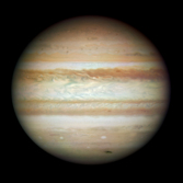Jupiter with impact scar