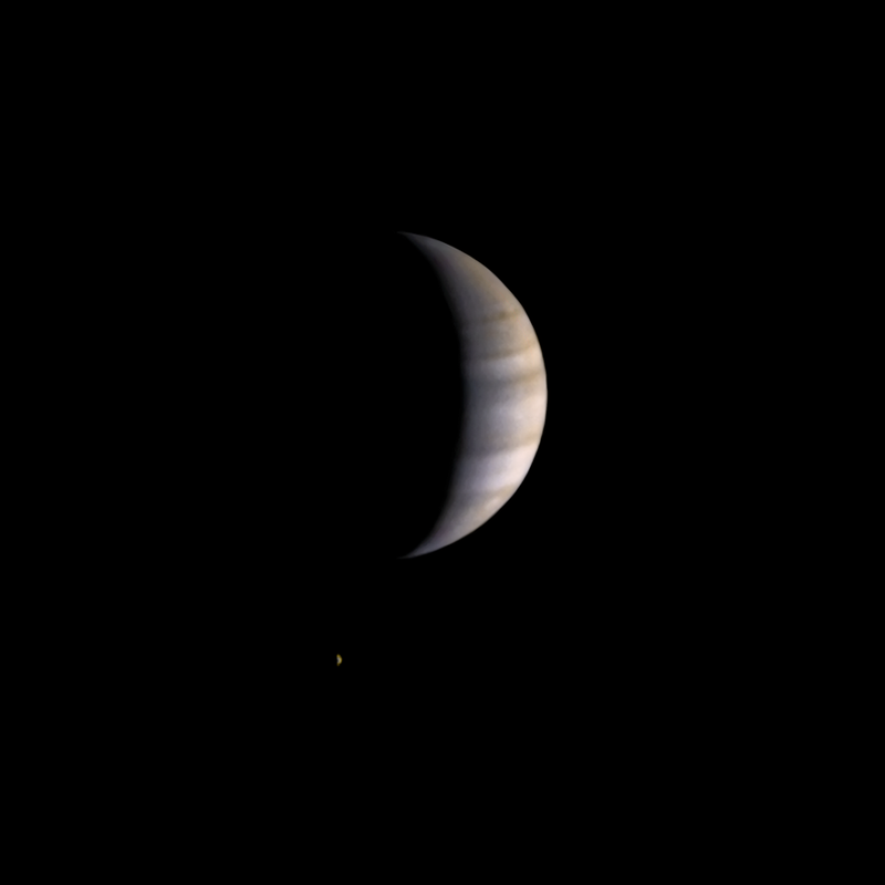 Pioneer 10 departs Jupiter (and Io)