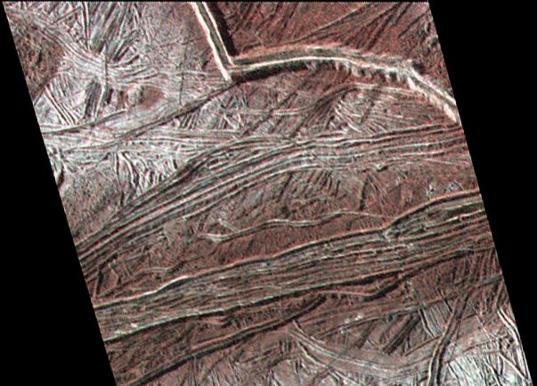 Cracks and ridges on Europa