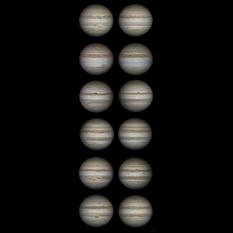 Jupiter's changing face, 2009-2015
