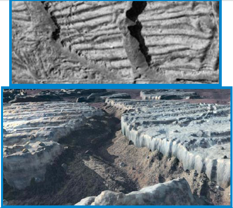 Rugged terrain on Europa