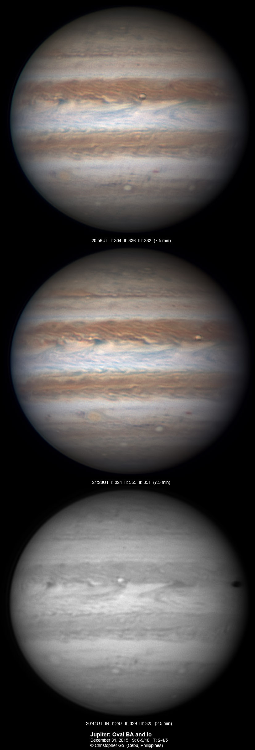 Io transits Jupiter