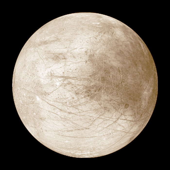 Europa's Jupiter-facing hemisphere