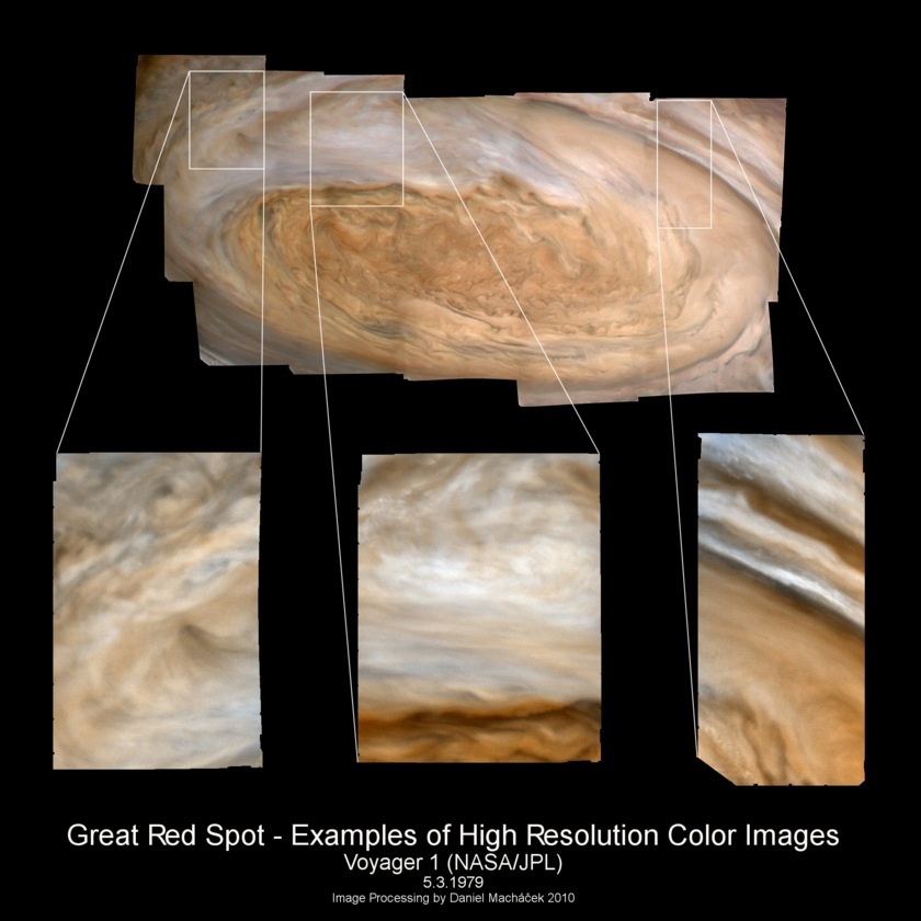 Zooming in on Jupiter's Great Red Spot