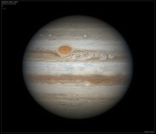 Jupiter on March 18, 2016