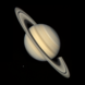 Saturn and its moons from Voyager 2
