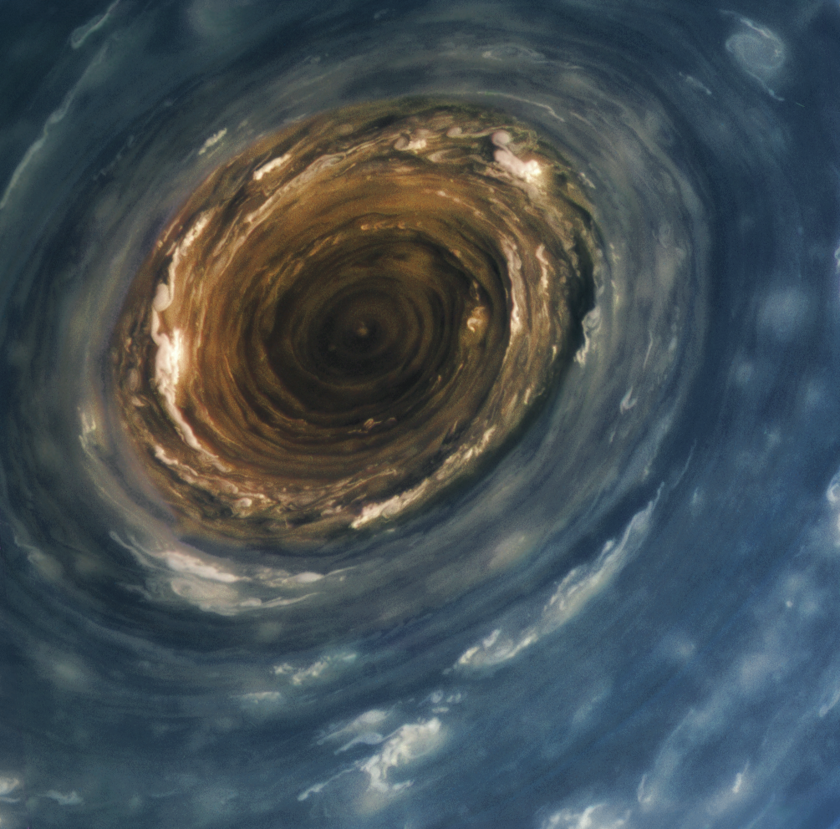 The vortex at Saturn's north pole from Cassini