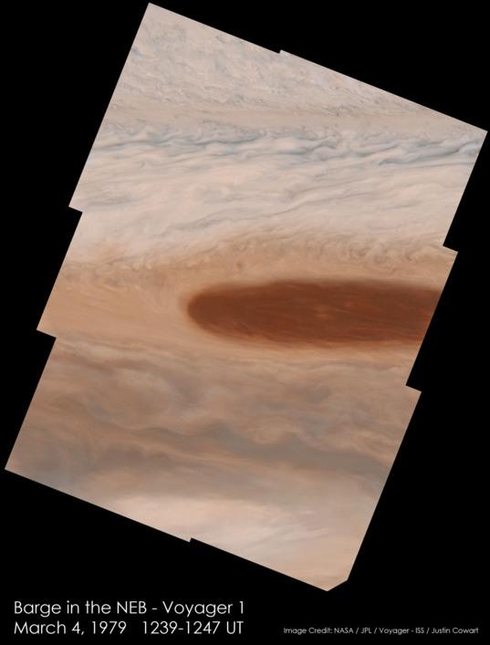 Barge in Jupiter's north equatorial belt