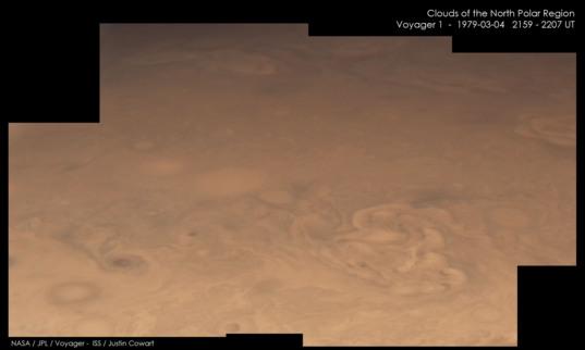 North polar clouds on Jupiter