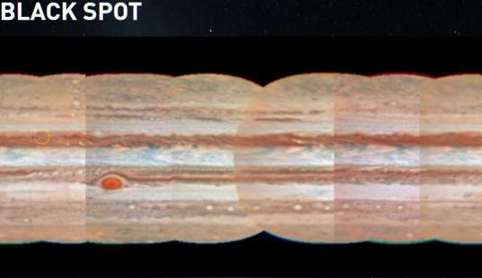 Jupiter's Black Spots