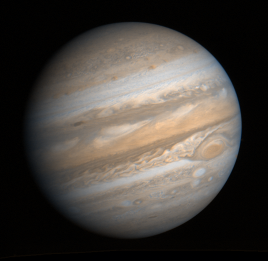 Voyager 1 global mosaic of Jupiter