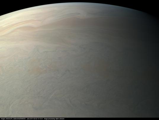 Jupiter from Juno at Perijove #4 (true color version)