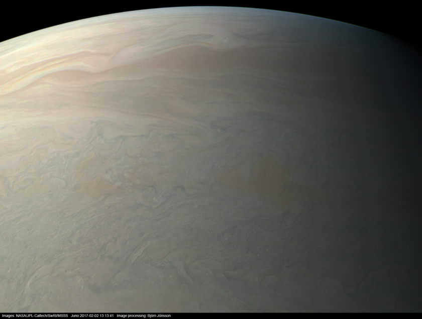 Jupiter from Juno at Perijove #4 (true color version)