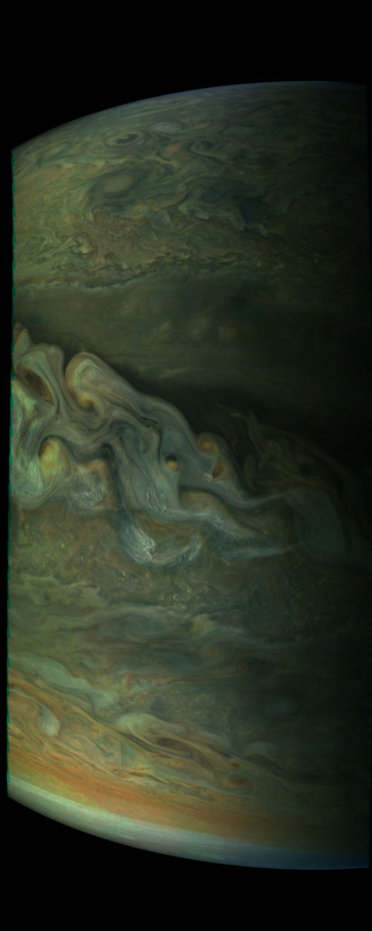 Jupiter's Great Polar Spot from Juno